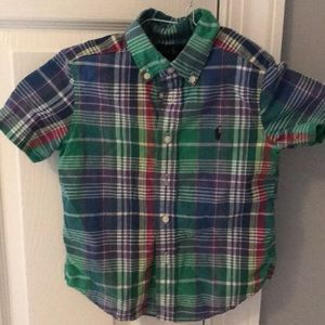 Ralph Lauren boys plaid button down